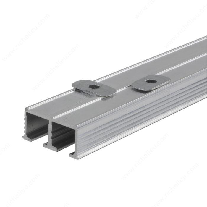 Riel superior doble para puerta de vidrio 15 g for Riel para puerta corrediza