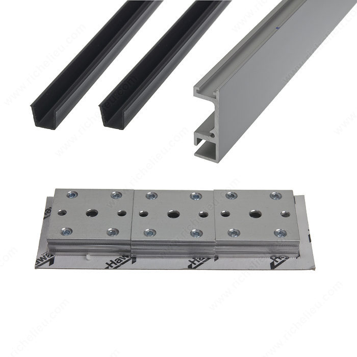 Rolling track guide and bracket set richelieu hardware