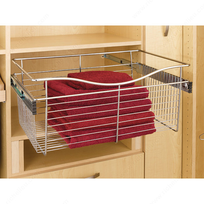 side pull closet p out baskets wire mount htm
