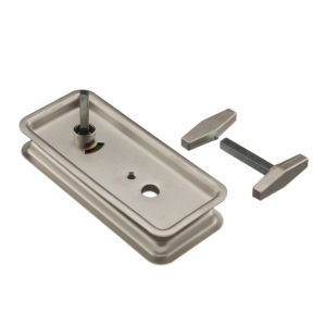 Set of Inlets for Bath Bar Bolt Lock