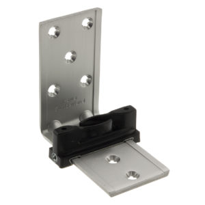 Single Floor Guide, Laterally Adjustable with Long Bracket