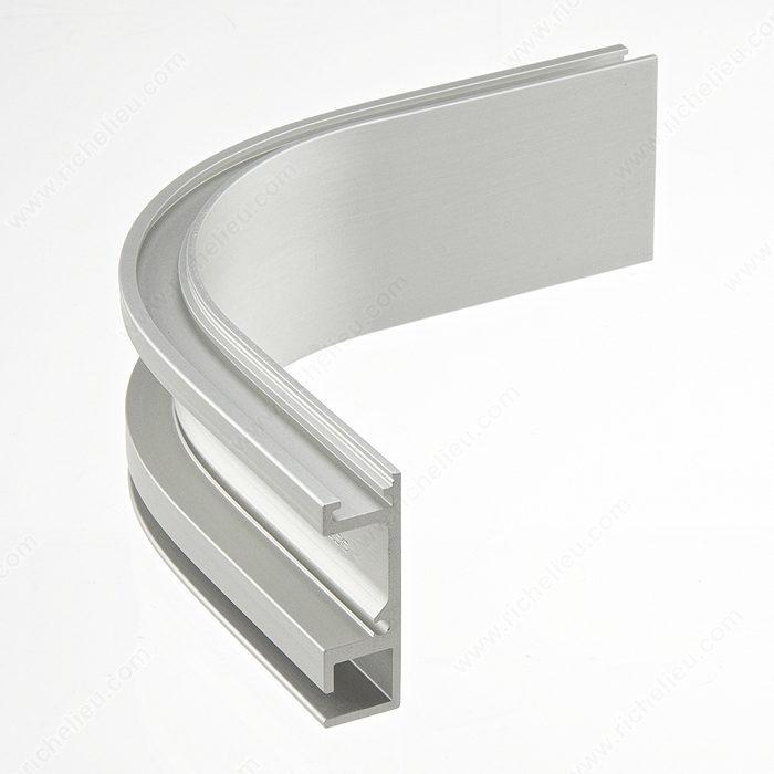 Riel de rodamiento simple con segmento curvo de 90 richelieu hardware - Cortina bano curva ...