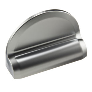 Rounded cover plate for lock bracket (1 piece)
