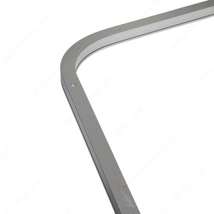 rail de guidage segment courb 75 longueur du c t d 39 angle 500 mm quincaillerie richelieu. Black Bedroom Furniture Sets. Home Design Ideas