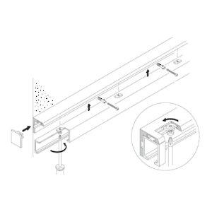 profil querre pour fixation murale perc quincaillerie richelieu. Black Bedroom Furniture Sets. Home Design Ideas