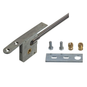 "Bar bolt lock, square/hexagonal socket, backset 42,5 mm (1-11/16 "")"