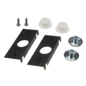 Glass fixing parts for 1 sliding door (ESG)