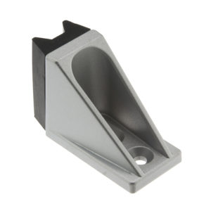 Bottom door stop with centering assembly