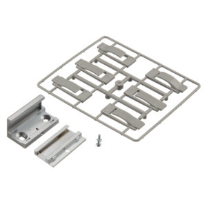 "Floor Guide, Screw Mounting, Rattle Proof, 2-Part, for Glass Thickness 8-13 mm (5/16""-17/32"")"