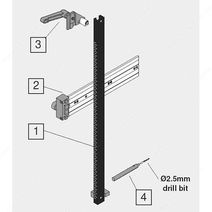 Blum Adjustable Calibrated Drilling Gauge Richelieu Hardware