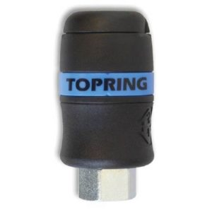 "1/4"" Industrial Topquik Safety Coupler - 1/4"" (F) NPT"