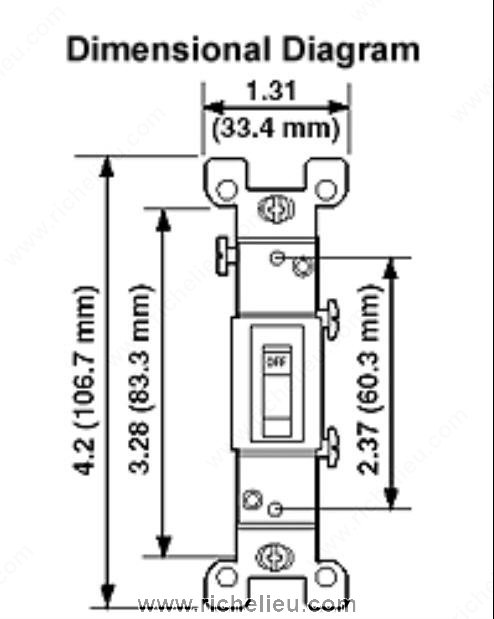 single pole on  off wall toggle switches