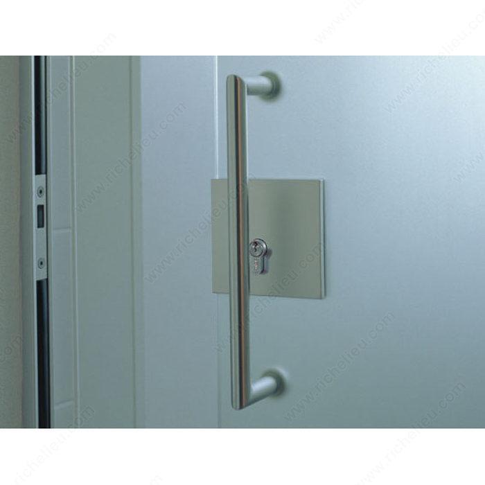 hawa toplock lock for sliding glass doors for 17 mm euro cylinder richelieu hardware. Black Bedroom Furniture Sets. Home Design Ideas