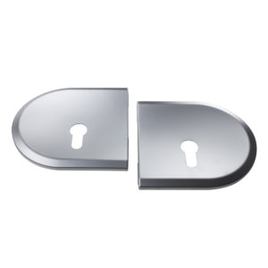 Round Cover Plate for 17 mm Lock (1 Pair)