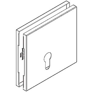 Square Cover Plate for 17 mm Lock (1 Pair)