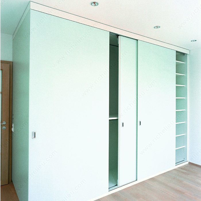 System For Sliding Cabinet Doors With Flush Mounting HAWA 220