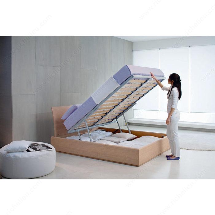Lift mechanism and hardware for bed with storage unit richelieu hardware - Lit 180x200 avec rangement ...