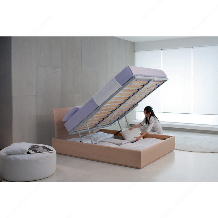 Lift Mechanism And Hardware For Bed With Storage Unit
