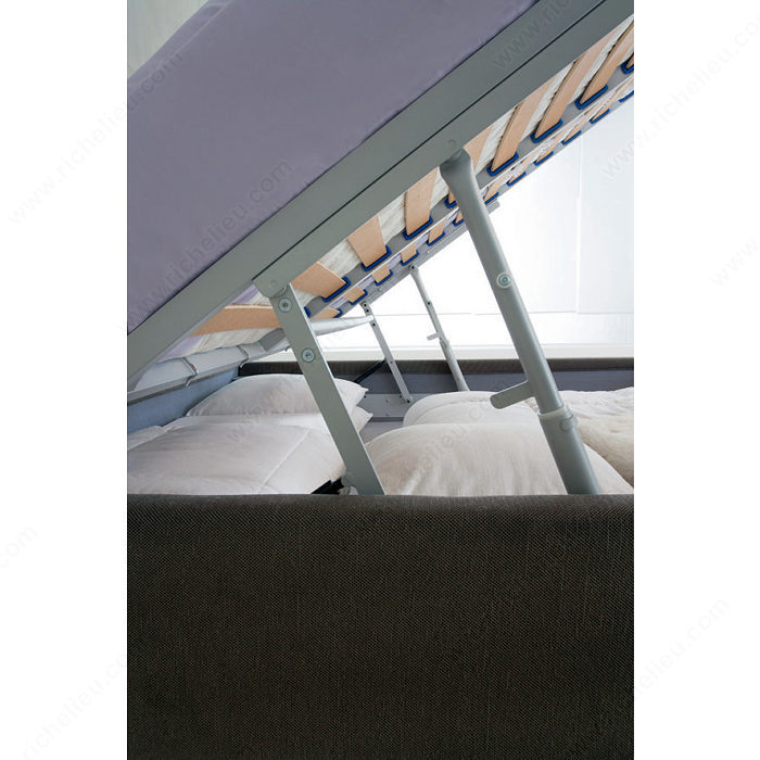 Storage Lift Bed Mechanism : Lift mechanism and hardware for bed with storage unit