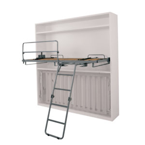 Horizontal Wall Bed Unit with Spring Mechanism & Manual Ladder (Upper Section)