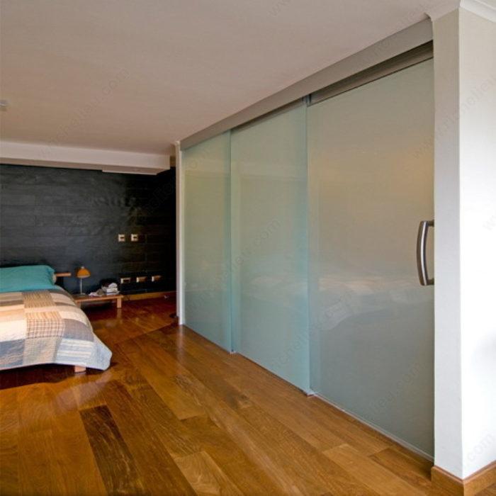 ouverture t lescopique synchronis e pour 2 portes coulissantes en verre twin t lescopique vd. Black Bedroom Furniture Sets. Home Design Ideas