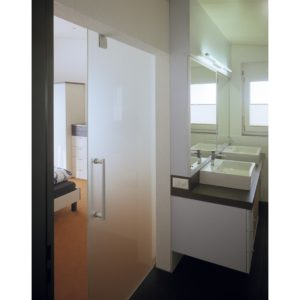 HAWA-Junior 80/GP Top Hung Sliding System for Glass Doors with Patch Fitting
