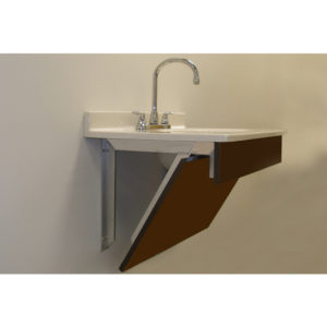 Vanity Support Bracket with Wood Mounting Face