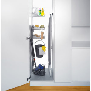 Sesam Storage System for Broom Closet