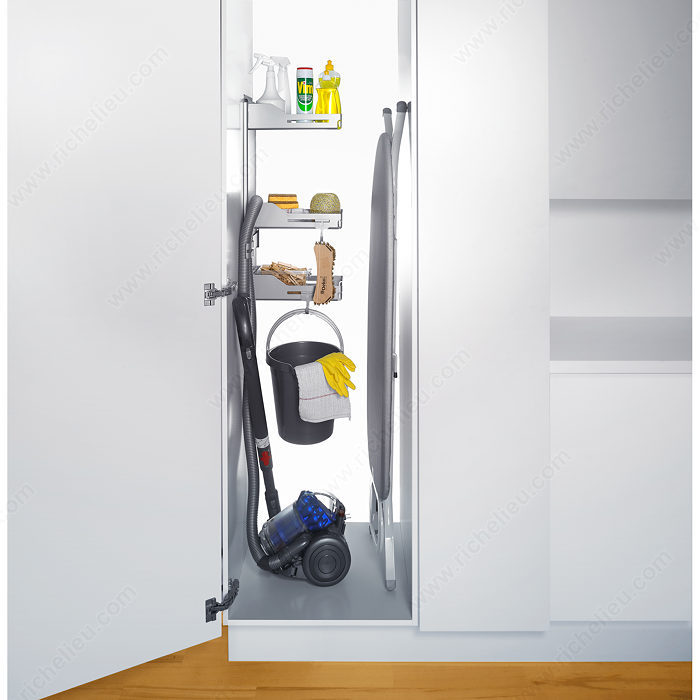 Sesam storage system for broom closet richelieu hardware - Armoire rangement balai aspirateur ...