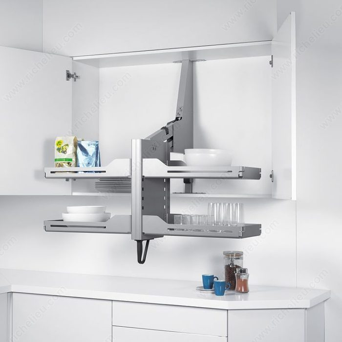 pull down kitchen cabinets pegasus pull mechanism richelieu hardware 24966