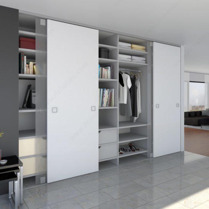 syst me avec rail de guidage en surface pour portes. Black Bedroom Furniture Sets. Home Design Ideas