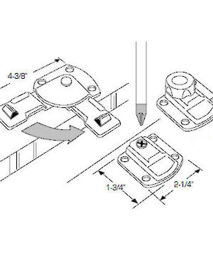 Receptacle For Latch 56360090 Richelieu Hardware