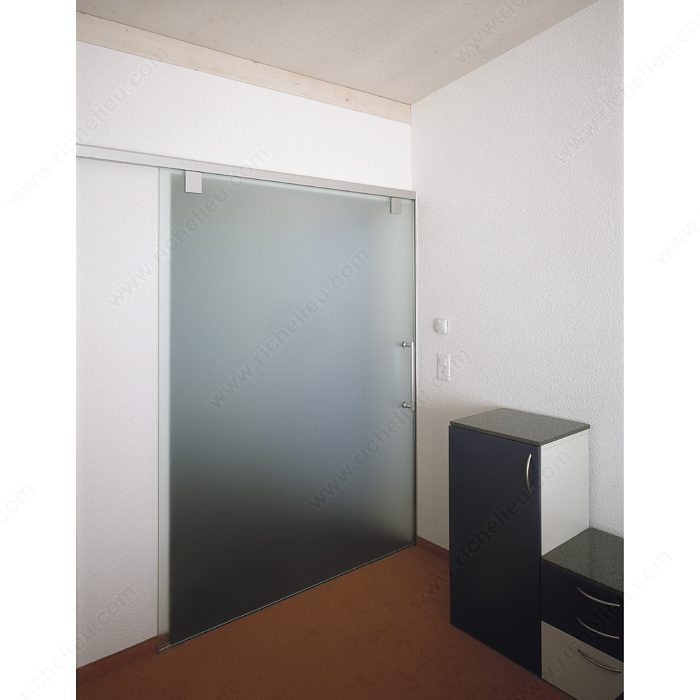 Patch door clear vu panel with available latch patch for Top hung sliding glass doors