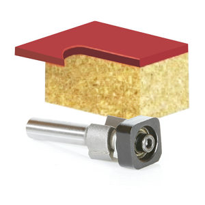 Laminate Trimmer with Euro Square Bearing Router Bit