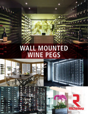 Wall Mounted Wine Pegs