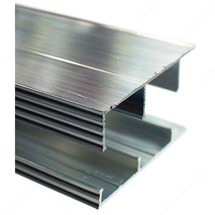 Riel de aluminio para puerta corrediza richelieu hardware for Precio de puertas corredizas de plastico