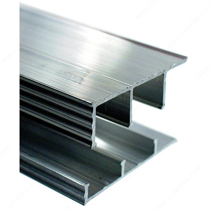 sliding door track aluminum richelieu hardware. Black Bedroom Furniture Sets. Home Design Ideas