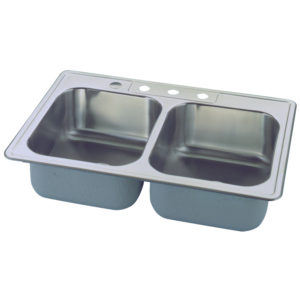 Affordable Double Sink - Top Mounted