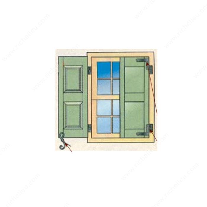 penture de volet quincaillerie richelieu. Black Bedroom Furniture Sets. Home Design Ideas