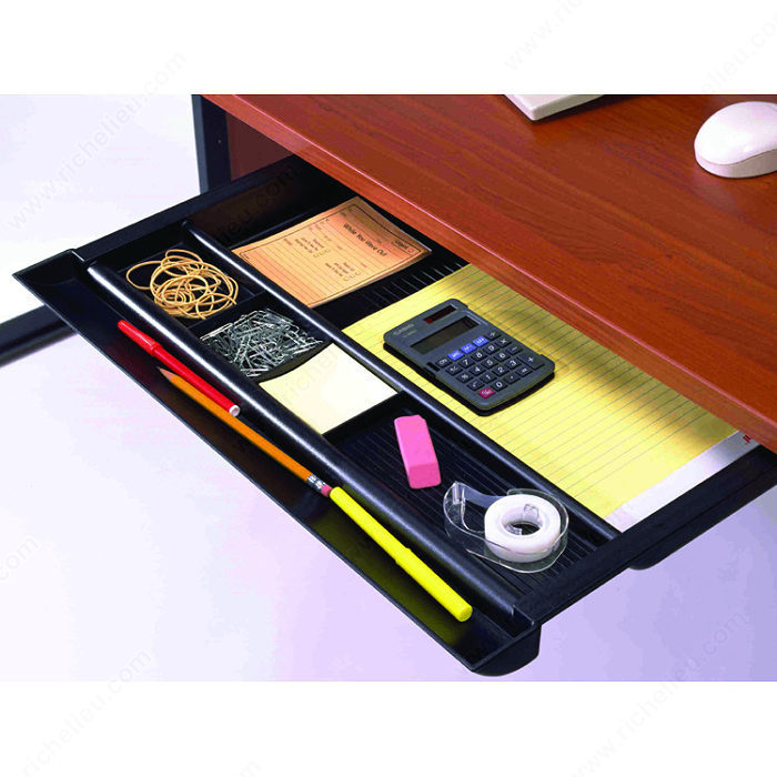 Pencil Drawer  Undermounted  Richelieu Hardware. Large Stackable Drawers. Laptop Corner Desk. 14 Shuffleboard Table. Service Desk Tools List. Calories Burned At Standing Desk. Commercial Folding Tables. Desk With Drawers And Shelves. Hairpin Coffee Table