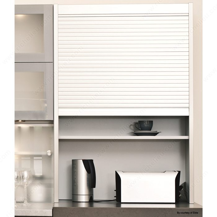 tambour kitchen cabinet doors tambour door aluminum finish 25 mm slats richelieu 6001