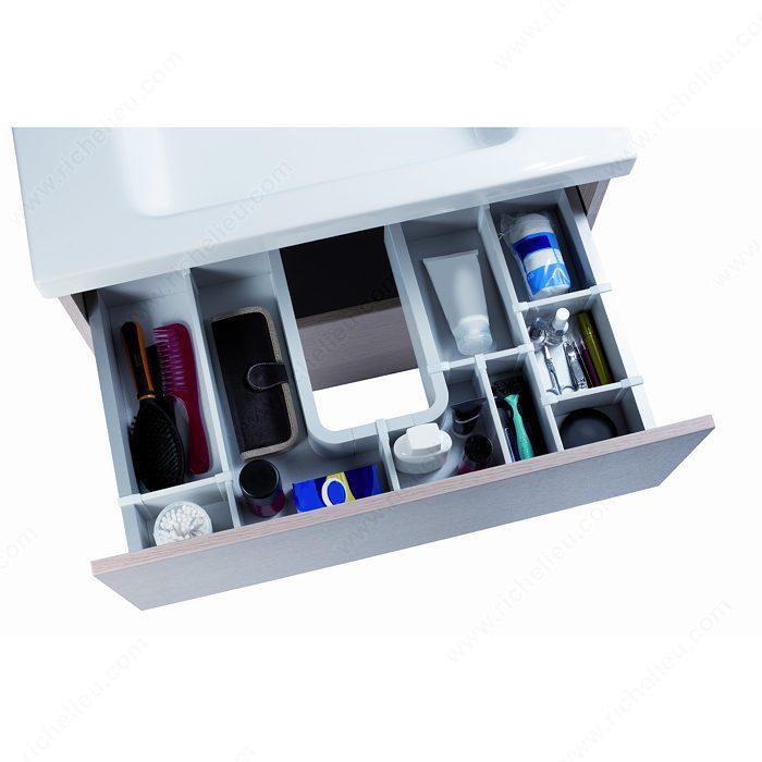 Agon vanity drawer divider richelieu hardware for Bathroom accessories organizer