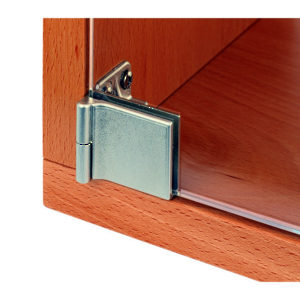 Snap-In Hinge for Glass Door Recessed Within Furniture/Cabinet