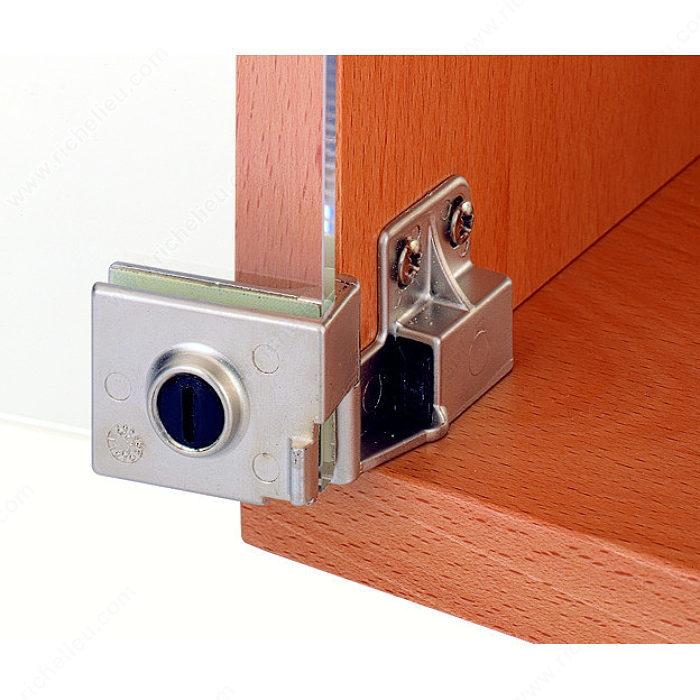 Glass Cabinet Door Hinge : Snap in hinge for glass door recessed within furniture