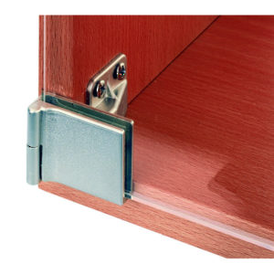 Surface Mounted Hinge with Snap Closure for Half-Overlay Glass Doors for Furniture/Cabinet