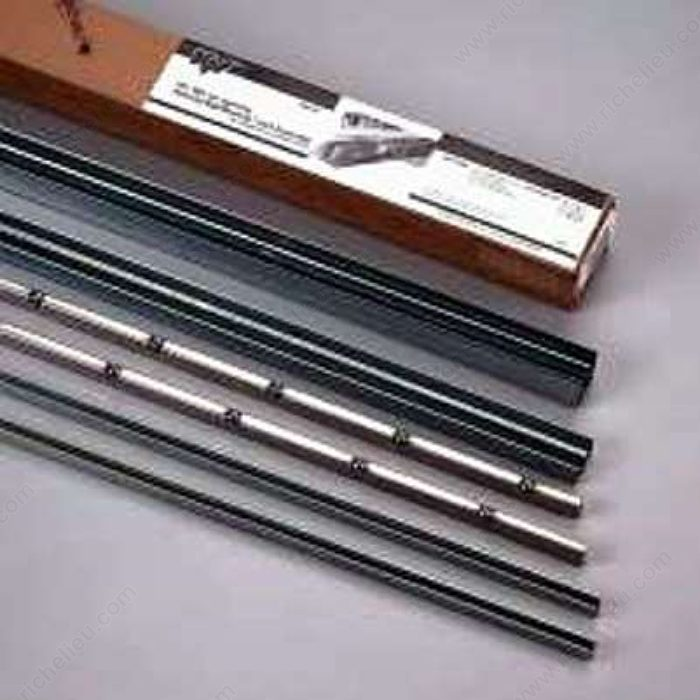 Roll ezy ball bearing track richelieu hardware - Cabinet sliding door tracks and rollers ...