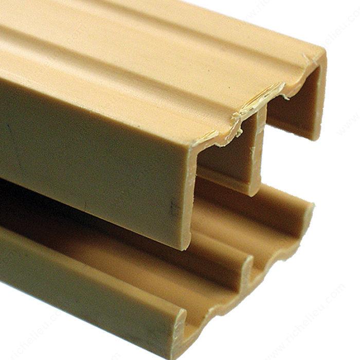 Plastic track for 1 2 sliding doors richelieu hardware for 1 4 inch sliding door track