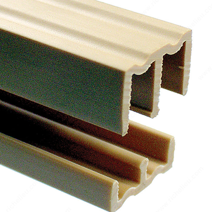 Plastic track for 1 4 sliding doors richelieu hardware for 1 4 inch sliding door track