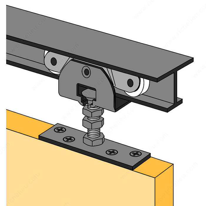 Pocket door track set 1 4 richelieu hardware - Mecanismos de puertas correderas ...