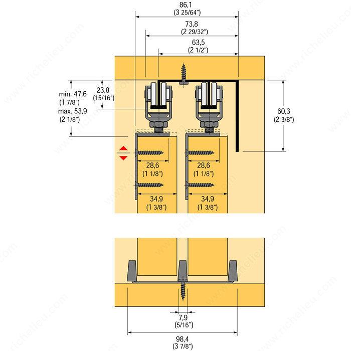 Gabinetes Para Baño Sears:corredizos Soluciones para puertas corredizas Herraje para puertas